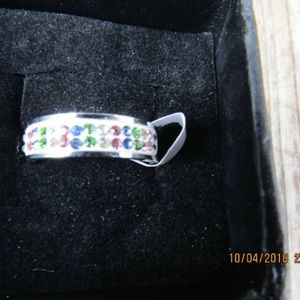 Jewelry - New Stainless Steel Rhinestone Ring Sz 7